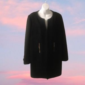 Joseph Ribkoff Black Light  Weight Coat Size 14